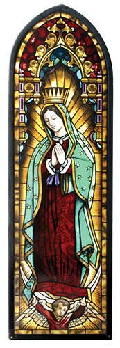 Our Lady Of Guadalupe Virgin Mary Catholic Icon Stained