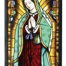 Our Lady of Guadalupe Virgin Mary Catholic Icon Stained Art Glass Panel
