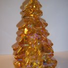 "Mosser Glass HONEY AMBER GOLD CARNIVAL LARGE 8"" CHRISTMAS TREE Figurine"