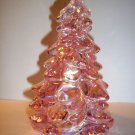 "Mosser Glass ROSE PINK CARNIVAL 5.5"" Medium CHRISTMAS TREE Figurine"