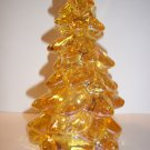 "Mosser Glass HONEY AMBER GOLD CARNIVAL 5.5"" Medium CHRISTMAS TREE Figurine"