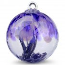"6"" European Art Glass Spirit Tree ""EMPRESS"" Purple Gray Witch Ball Kugel"