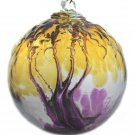 "6"" European Art Glass Spirit Tree Embossed Leaf ""ASSURANCE"" Witch Ball Kugel"