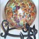 Hand Forged Metal Stand for Kugel Witch Ball Gazing Ball Black Pewter Finish