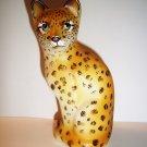 Fenton Glass Realistic Wild Leopard Stylized Cat GSE J.K. Spindler Ltd Ed 4/20!