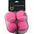 Hyper Dog 4-Pack Pink Mini Tennis Balls Fetch Dog Toy Ball