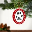 """Seasons Grrreetings"" Pet Cat Dog Double Sided Photo and Ink Holiday Ornament"