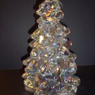 "Mosser Glass CRYSTAL CARNIVAL Iridized 8"" CHRISTMAS TREE Figurine Made In USA!"