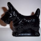 Mosser Glass Jet Black Scottie Scotty Westie Terrier Dog Figurine Made In USA!