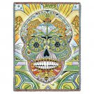 "Sugar Skull Day of the Dead Tapestry Afghan Throw Blanket Made In USA 53"" x 70"""