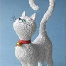 """WHAT'S FOR DINNER?"" ALBERT DUBOUT WHITE CAT KITTEN STATUE SCULPTURE France"