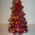 "Mosser Glass Ruby Red Carnival 5.5"" CHRISTMAS TREE Figurine Holiday Decoration"
