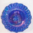 Cobalt Blue Carnival Iridized Pony Horse Head Bowl Dugan Mold Gorgeous!