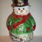 Fenton Glass Winter Wishes Red Cardinal Snowman Fairy Light Lamp Ltd Ed #9 of 14