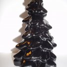 "Mosser Glass Black 5.5"" CHRISTMAS TREE Figurine Holiday Decoration USA Made!"