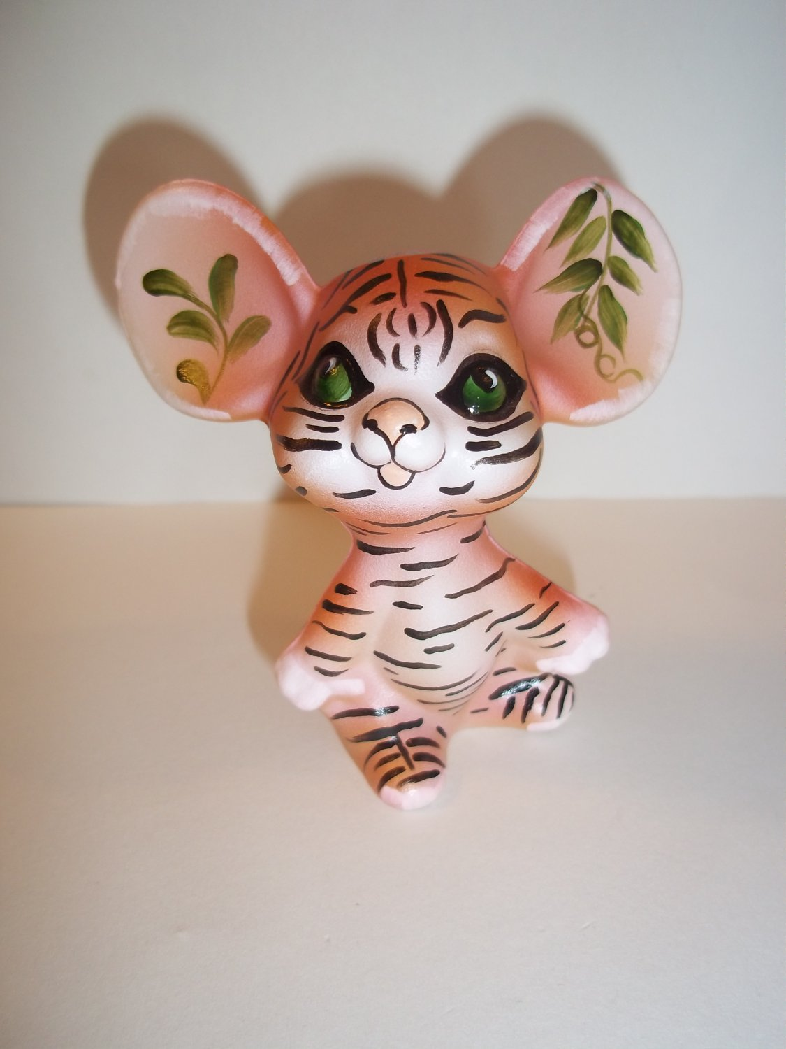 Fenton Glass Orange Bengal Tiger Mouse Figurine GSE Ltd Ed Kim Barley #13 of 24