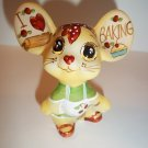 "Fenton Glass ""I Love Baking"" Kitchen Mouse Figurine GSE Ltd Ed Kim Barley #22/30"