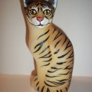 Fenton Glass Natural Tiger Stylized Cat Figurine CC Hardman FAGCA Ex Ltd Ed 30