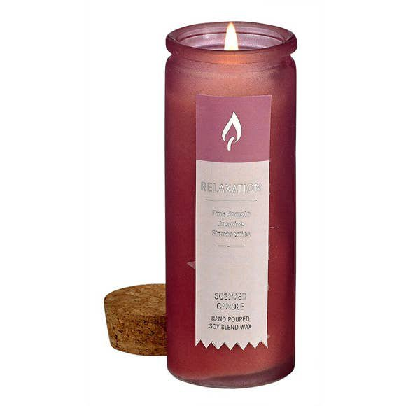 4 oz. Aromatherapy Tincture Bottle Soy Candle - Pink - Relaxation Scent