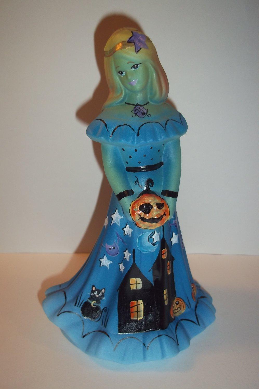 Fenton Glass Jackie-O Lantern Halloween Bridesmaid Doll Cat Ltd Ed Barley #7/11