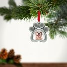 Pawprint Shaped Silver Pet Cat Dog Photo Frame Christmas Holiday Ornament Kit