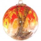 "6"" European Art Glass Spirit Tree ""MESQUITE"" Fall Leaves Color Witch Ball Kugel"