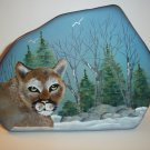 Fenton Glass Mountain Lion Cougar Cat Iceberg Paperweight Lt Ed Kim Barley #4/13