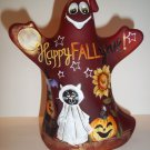 "Fenton Glass ""Happy Fall Y'all"" Halloween Ghost Figurine LE #1/12 Kim Barley"