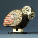 Greek Owl Miniature Corinthian Aryballos Style Geometric Statue Figurine