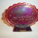 Imperial Glass Ruby Red Carnival Dealer Display Counter Sign Logo