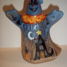 "Fenton Glass ""Dead End"" Halloween Ghost Figurine Black Cat LE #3/7 Kim Barley"