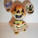 Fenton Glass Halloween Trick or Treat Mouse Figurine GSE Ltd Ed Kim Barley #10/21