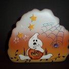 Fenton Glass Boo Y'all Halloween Ghost Paperweight Ltd Ed Kim Barley #5/7