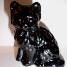 Mosser Handmade Glass Black Persian Cat Kitten Figurine Made in USA!
