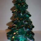 "Mosser Glass TEAL CARNIVAL 8"" CHRISTMAS TREE Figurine HOLIDAY Made In USA!"