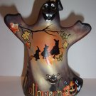 "Fenton Glass ""Halloween Nights"" Witch Cat Ghost Figurine GSE Ltd Ed #3/43 Barley"