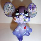 Fenton Glass Eggplant Purple One Day At A Time Mouse Figurine LE #12/22 K Barley