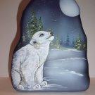 Fenton Glass Cobalt Blue Polar Bear Cub Iceberg Paperweight Lt Ed M. Kibbe #6/11