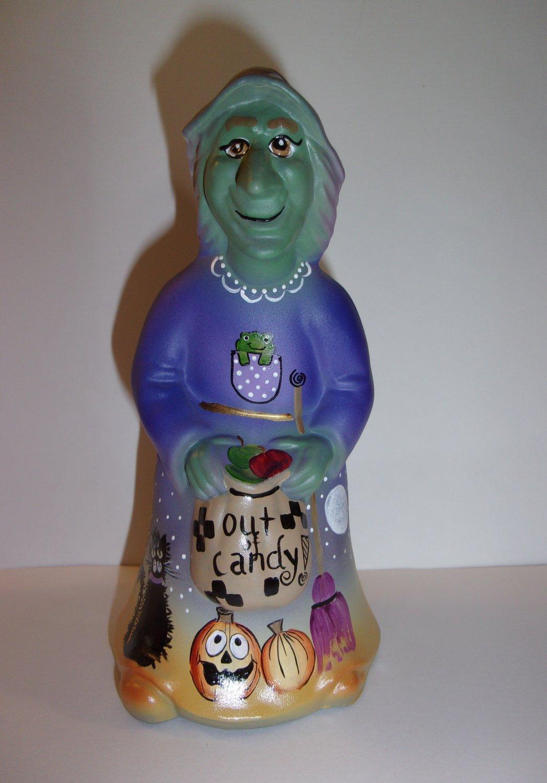 Fenton Glass Purple Out Of Candy Halloween Witch Figurine Ltd Ed Kim Barley #6/18