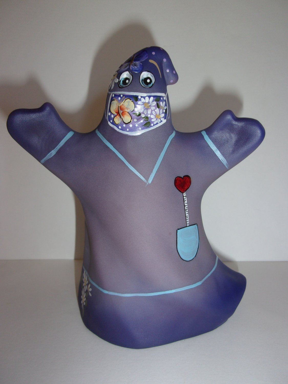 Fenton Glass Purple One Day At A Time Halloween Ghost Figurine LE 17/18 K Barley