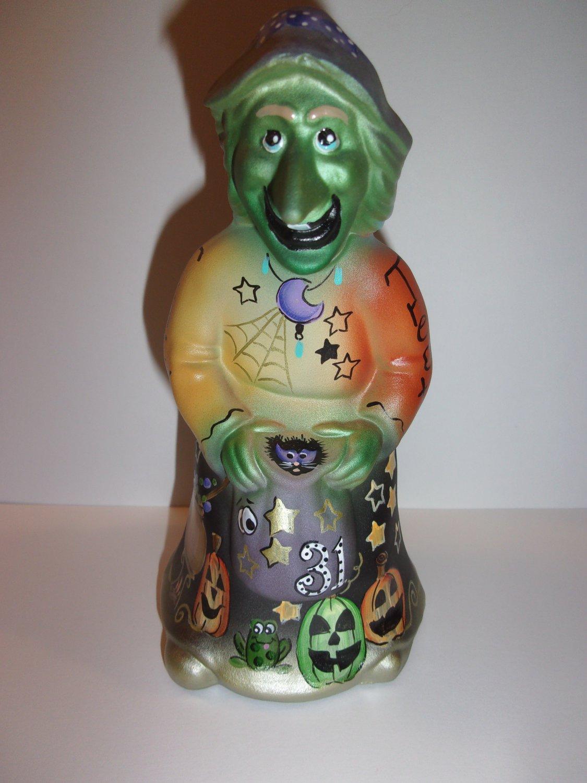 Fenton Glass Purple Toothina Halloween Witch Figurine Ltd Ed Kim Barley #5/21
