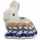 Polish Pottery Sitting Bunny Rabbit Figurine Boleslaweic Stoneware Poland