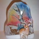 Fenton Glass Deer Family Buck Doe Fawn Iceberg Paperweight Lt Ed Spindler #6/14
