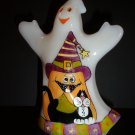 """Fenton Glass """"Whimsical Black Cats"""" Halloween Ghost Figurine LE of 12 NFGS Exclusive"""