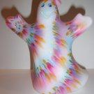 Fenton Glass Tie Dye Halloween Ghost Figurine GSE Ltd Ed #17/69 J.K. Spindler