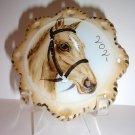 Fenton Glass Star Spot Horse Portrait Ornament Ltd Ed M. Kibbe #10/20 Equine