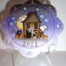 "Fenton Glass ""Boo To You"" Halloween Haunted House Ornament Ltd Ed K Barley #6/16"