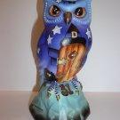 Fenton Glass Trick or Treat Halloween Fun Owl Figurine Kim Barley Ltd Ed #7/27