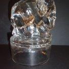 Fenton Glass RARE Crystal Working Worker Elephant Figurine on Font Fount