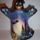 Fenton Glass Amethyst Halloween Fright Night Ghost Figurine Ltd Ed #2/37 Barley